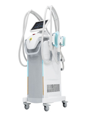 Arctica +. Cryolipolysis device with 4 silicone handles.